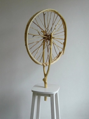 Kiril Prashkov Natural Bicycle Wheel by Duchamp 2004 Natural Modernism Series